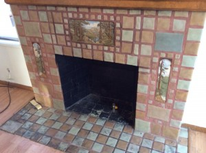 Original Frankoma Fireplace